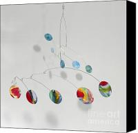 Kinetic Sculpture Sculpture Canvas Prints - Art Mobile - Walk in the Park Canvas Print by Carolyn Weir