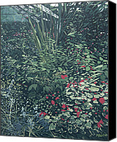 Malcolm Warrilow Canvas Prints - At the botanical Gardens Canvas Print by Malcolm Warrilow