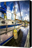 Debra And Dave Vanderlaan Canvas Prints - At The Dock Canvas Print by Debra and Dave Vanderlaan