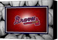 Baseball Canvas Prints - Atlanta Braves Canvas Print by Joe Hamilton