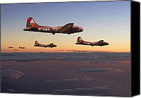 Warbird Canvas Prints - B17- A Winters Tale Canvas Print by Pat Speirs