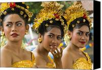 Asian Canvas Prints - Balinese Dancers Canvas Print by David Smith