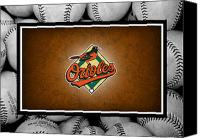 Baseball Canvas Prints - Baltimore Orioles Canvas Print by Joe Hamilton