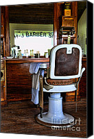 Dresser Canvas Prints - Barber - The Barber Chair Canvas Print by Paul Ward