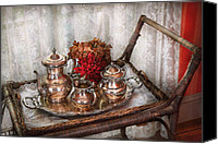 Mike Savad Canvas Prints - Barista - Tea Set - Morning tea  Canvas Print by Mike Savad