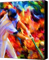 Major League Baseball Digital Art Canvas Prints - Baseball III Canvas Print by Lourry Legarde