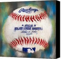 Major League Baseball Digital Art Canvas Prints - Baseball IV Canvas Print by Lourry Legarde