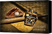 Baseball Canvas Prints - Baseball Play Ball Canvas Print by Paul Ward