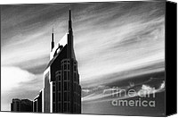 Nashville Skyline Canvas Prints - Batman Towers in Nashville Canvas Print by Jeff Holbrook