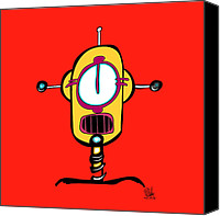Dan Daulby Canvas Prints - Beebop Beebot Canvas Print by Dan Daulby