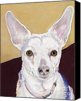 Pet Portrait Pastels Canvas Prints - Belle Canvas Print by Pat Saunders-White