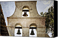 Mission Bells Canvas Prints - Bells of Mission San Diego Canvas Print by Joan Carroll