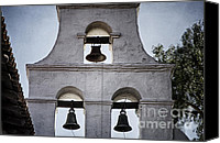Mission Bells Canvas Prints - Bells of Mission San Diego Too Canvas Print by Joan Carroll