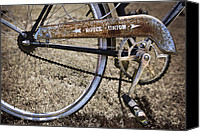 Pedals Canvas Prints - Bicycle Gears Canvas Print by Debra and Dave Vanderlaan