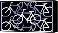 Tour De France Canvas Prints - Bicycle Infinity Canvas Print by Bill Cannon