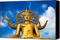 Asia Digital Art Canvas Prints - Big Buddha Canvas Print by Adrian Evans