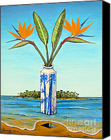 Jerome Stumphauzer Canvas Prints - Birds Of Paradise Over Fiji Canvas Print by Jerome Stumphauzer