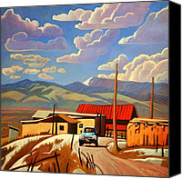 Road Painting Canvas Prints - Blue Apache Canvas Print by Art West