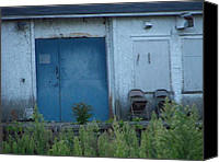 Jim Vansant Canvas Prints - Blue Door Canvas Print by Jim Vansant