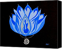 Carolyn Cable Canvas Prints - Blue Lotus Canvas Print by Carolyn Cable