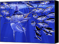 Grouper  Canvas Prints - Blue marlin round up Canvas Print by Carey Chen