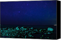 Ken Williams Canvas Prints - Blue starscape Canvas Print by Ken Williams
