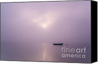 Boat Special Promotions - Boat in the fog Canvas Print by Karol Gruszka