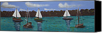 Kate Farrant Canvas Prints - Boats on the Water Canvas Print by Kate Farrant
