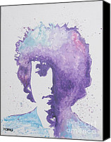 Bob Dylan Print Canvas Prints - Bob Dylan Canvas Print by Venus Art