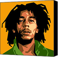Singer Digital Art Canvas Prints - Bob Marley Canvas Print by Douglas Simonson