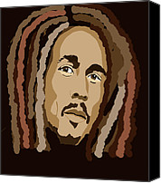Kate Farrant Canvas Prints - Bob Marley Canvas Print by Kate Farrant