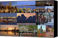 Juergen Roth Canvas Prints - Boston Cityscape Photography Canvas Print by Juergen Roth