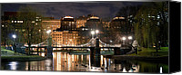 Boston Photo Canvas Prints - Boston Common Lagoon Bridge 2 Canvas Print by Joann Vitali
