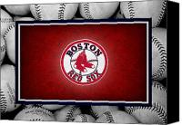 Baseball Canvas Prints - Boston Red Sox Canvas Print by Joe Hamilton