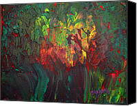 Donna Blackhall Canvas Prints - Bouquet Of Fire Canvas Print by Donna Blackhall