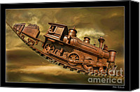 Blake Richards Canvas Prints - Bringhurst Special Train Canvas Print by Blake Richards