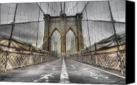 Brooklyn Bridge Canvas Prints - BrooklinBridge Canvas Print by Alessandro Ciabini