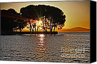 Cheryl Young Canvas Prints - Buckingham Point Sunset 2 Canvas Print by Cheryl Young
