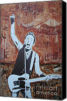 E Street Band Canvas Prints - Bust This City In Half Canvas Print by Stuart Engel