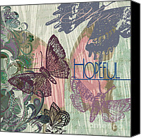 Blue Digital Art Special Promotions - Butterfly Art with Mood of Hopes Canvas Print by Art World