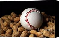 Athletic Digital Art Canvas Prints - Buy Me Some Peanuts - Baseball - Nuts - Snack - Sport Canvas Print by Andee Photography