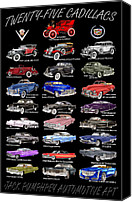 1949 Canvas Prints - Cadillac Poster Note Cards Canvas Print by Jack Pumphrey