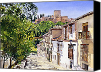 Margaret Merry Canvas Prints - Calle Victoria Granada Canvas Print by Margaret Merry