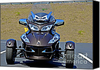 Vehicles Canvas Prints - Can-Am Spyder - The Spyder Five Canvas Print by Christine Till