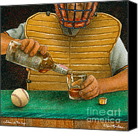 Baseball Painting Canvas Prints - Catcher In The Rye... Canvas Print by Will Bullas