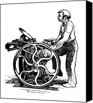 Letterpress Drawings Canvas Prints - Chandler and Price Old Style Canvas Print by Dale Michels