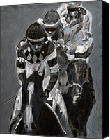 Preakness Canvas Prints - Chasing Diamonds Canvas Print by Denise Boineau