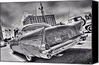 Jesse James Canvas Prints - Chevy Bel Air Canvas Print by Nicholas  Grunas