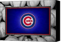 Baseball Canvas Prints - Chicago Cubs Canvas Print by Joe Hamilton