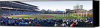 Mlb Canvas Prints - Chicago Cubs PreGame Time Panorama Canvas Print by Thomas Woolworth